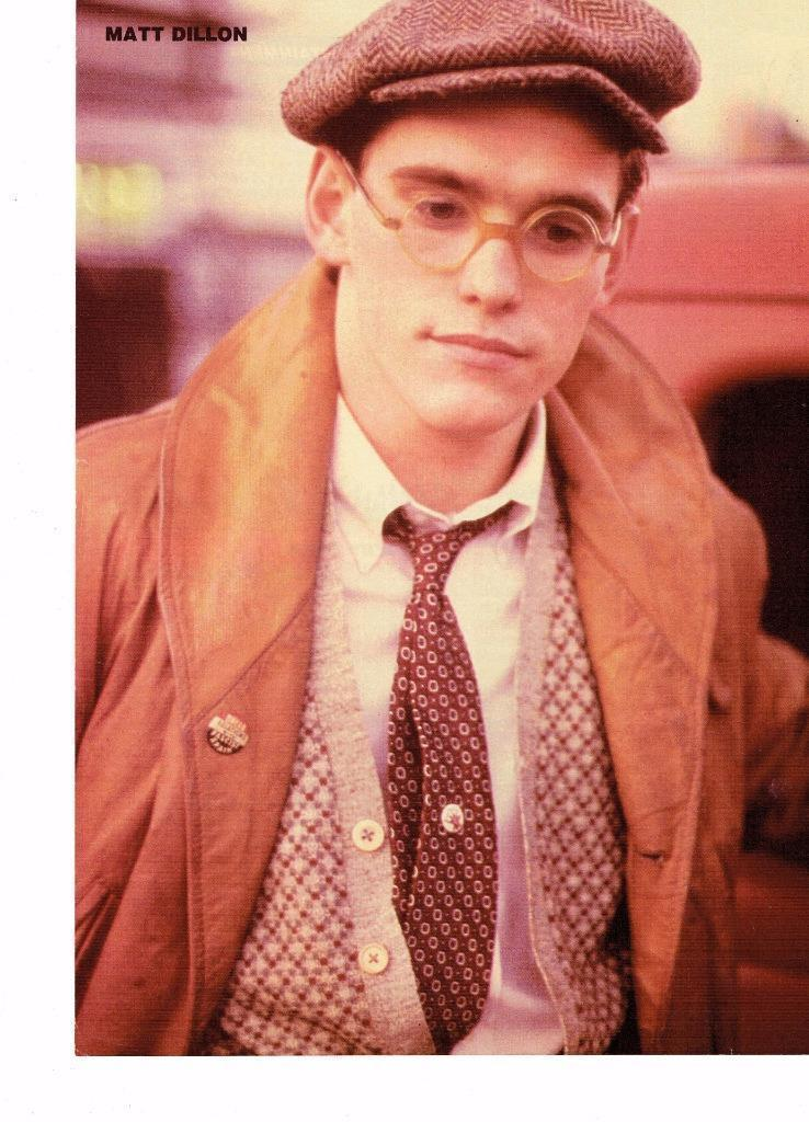 Matt Dillon teen magazine pinup clipping Bop Teen Beat Tiger Beat Glasses