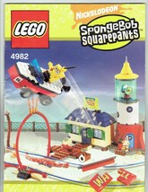 LEGO Nickelodeon Spongbob Squarepants 4982 instruction Booklet Manual ONLY - $5.00