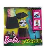 Barbie Crayola Rainbow Design Clothing Set DIY Barbie Outfit 2017 Rinse ... - $12.16