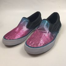 Disney Liv Maddie Girl's Size 3 Pink Blue Sequin Slip-on Canvas Shoe School - $12.99
