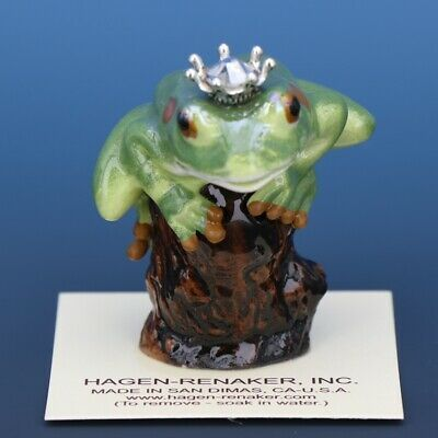 Birthstone Tree Frog Prince April Diamond Miniatures by Hagen-Renaker