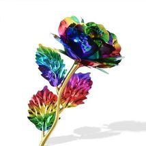 Rose Flower Multi-Color Plated Rose Romantic Valentine Day - 1 x Random Color image 6