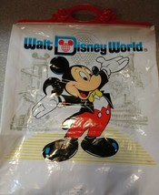 vintage Walt Disney World reusable plastic bag mickey minnie snaps close - $19.79