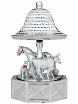 Reed & Barton FarmYard Friends Musical Carousel Silverplate Music Box Tu... - $54.90