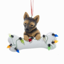 German Shepherd w/Bone & Lights Ornament - $12.95
