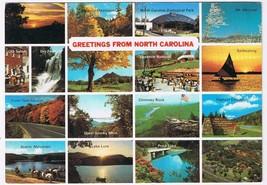 North Carolina Postcard Raleigh Tar Heel State Old North State Multi View - $2.84