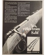 1968 Print Ad Smith & Wesson Bolt Action Rifles Springfield,Massachusetts - $14.83