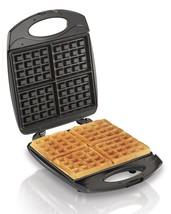 Belgian Waffle Maker 4 Piece Breakfast Iron Baker Kitchen Electric Machi... - €44,07 EUR