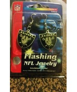Oakland Raiders Nfl Dangle Flashing Earrings - $12.35