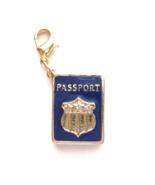 Blue Enamel PASSPORT Clip On Charm Pendant Zipper Pull Keychain Charm BN - $7.91