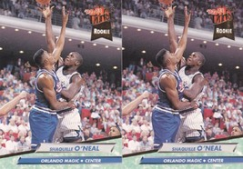 Lot of 2 - 1992-93 Fleer Ultra #328 Shaquille O'neal RC Rookie Shaq J - $14.84