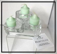 Retired NIB Partylite Mini Castle Crystal Candle Holder - $12.00