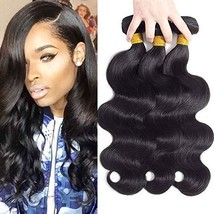 "10A Brazilian Virgin Hair Body Wave 3 Bundles 10"" 12"" 14"" 300g Brazilian Hair Bu"