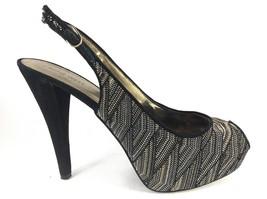 "Nine West Women's 5 1/4"" Suede Platform Peep Toe Slingback Pumps NWKobel 9.5M - $20.75"