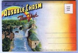 New York Souvenir Folder Ausable Chasm 18 Views 1941 D6749 Curt Teich - $2.97