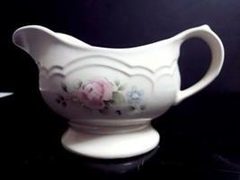 Pfaltzgraff USA Tea Rose Stoneware 1 Pint Gravy Server Sauce Boat #436 - $9.89