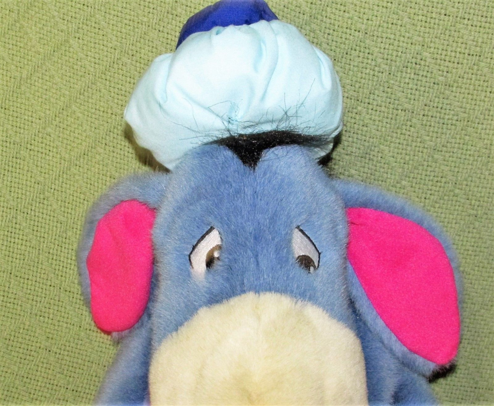 "EEYORE Get Well Plush ICE BAG Thermometer Sign 13"" Plush Stuffed Pooh Disney Toy image 5"