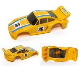 1980 Ideal Tcr Porsche Super Yellow #36 Slot Car Body - $18.80