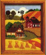 Vintage 1982 Creative Circle Needlepoint Harvest Time Kevin Burgess Kit ... - $18.99
