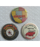 """Three Collector Dealer Pin Back Buttons from: """"Harolds Club"""" Reno - (sku... - $15.75"""