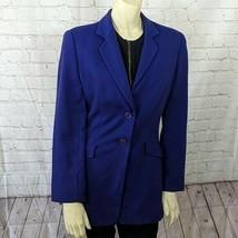 Giorgio Armani Le Collezione   Size 6 Women's Blue Fitted Vintage 80's B... - $44.55