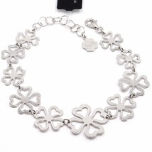 Bracelet Silver 925,Four-Leaf Clover Good Luck Charm,by Maria Ielpo ,Made in image 1