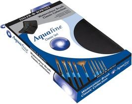 Daler Rowney Aquafine Classic Zip Case 10 Artists Watercolour Brushes, D28230011 - $49.49