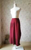 Women Long Linen Skirt Ankle length Linen Cotton Skirt Casual Skirts One Size  image 4