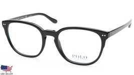 New Polo Ralph Lauren Ph 2187 5001 Shiny Black Eyeglasses Frame 53-20-145 B44mm - $98.98