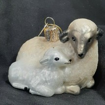 Old World Christmas Sheep with Lamb Glass Ornament In Origina Box 2015 w Hangtag - $14.01