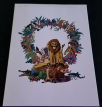 Vintage RARE 90's Lion King Christmas Card Given to Disney Employees  - $46.53