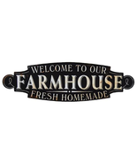 Welcome to Our Farmhouse Plaque lightweight metal sign distressed, rusti... - $45.84