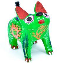 Handmade Alebrije Oaxacan Copal Wood Carving Painted Folk Art Cat Kitten Figure image 4
