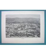 ALGERIA Fortress of Tlemcen - 1887 Wood Engraving - $8.55