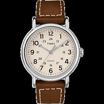 Timex Weekender 2-Piece Leather Strap Watch - Cream - $68.78