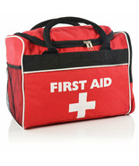 Large Red 'Run On' First Aid Bag - Empty - $30.58