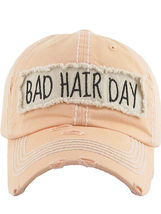 Distressed Vintage Style Bad Hair Day Hat Baseball Cap Runner Active Wear image 10