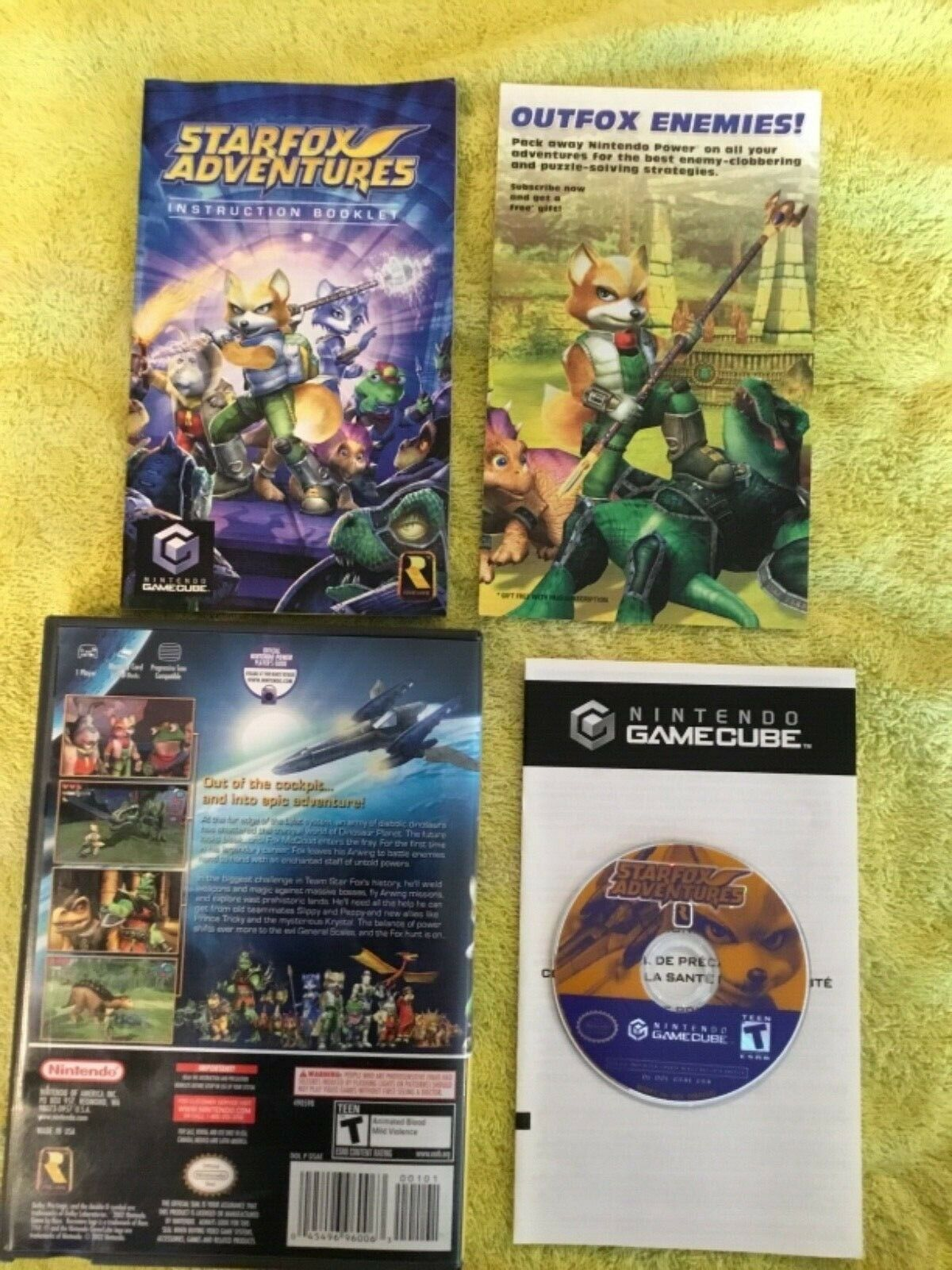 Star Fox Adventures Player's Choice (Nintendo GameCube, 2003) COMPLETE