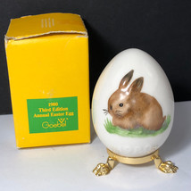 1980 GOEBEL ANNUAL EASTER EGG West Germany first edition bunny rabbit fi... - $29.65