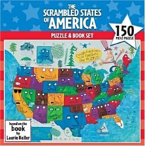 The Scrambled States of America Puzzle & Book Set   - $10.77