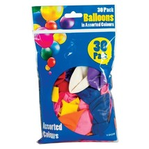 Jumbo Party Balloons Pack of 30 assorted colours - $2.57
