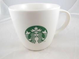 Starbucks White Mug with Green Siren Mermaid Logo  2013 - $13.85