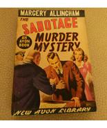 Vintage Paperback The Sabotage Murder Mystery Margery Allingham Avon #29... - $21.99