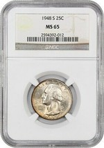 1948-S 25c NGC MS65 - Washington Quarter - $48.50
