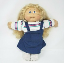 Vintage Cabbage Patch Kids Long Cornsilk Blonde Hair Girl W Tooth Plush Doll - $55.17