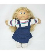 VINTAGE CABBAGE PATCH KIDS LONG CORNSILK BLONDE HAIR GIRL W TOOTH PLUSH ... - $55.17