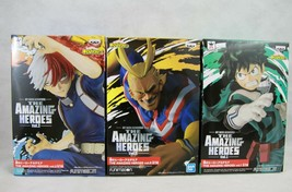 My Hero Academia The Amazing Heroes Deku, Shoto, All Might, Figure set J... - $75.99