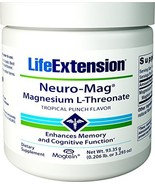 Life Extension Neuro-Mag Magnesium Threonate, Tropical Punch, 3.293 Ounce - $23.16