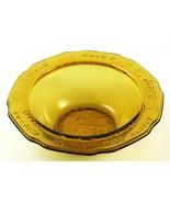 Vintage Tiara Glass Child's Embossed Amber Bowl, Mother Goose Nursery Rh... - £13.05 GBP