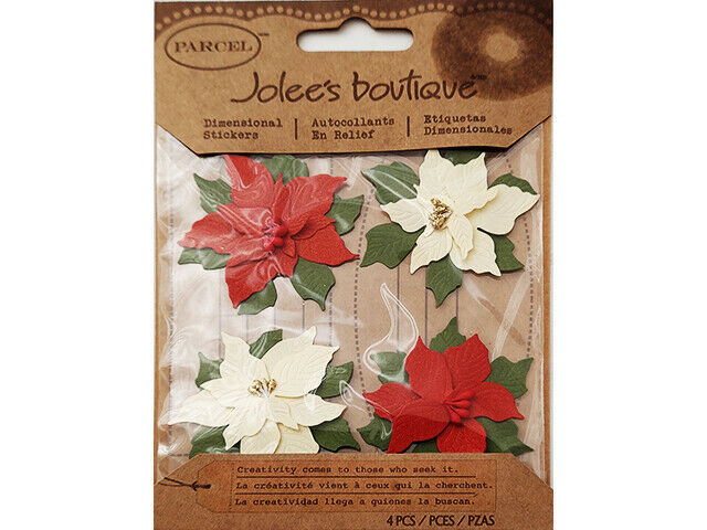 Jolee's Boutique Poinsettia Stickers #50-21034